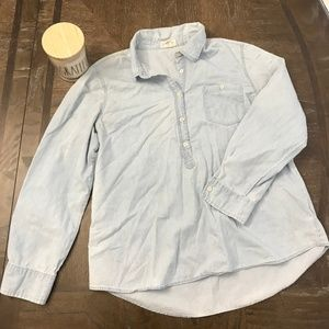 Lucy & Laurel Denim Popover Shirt